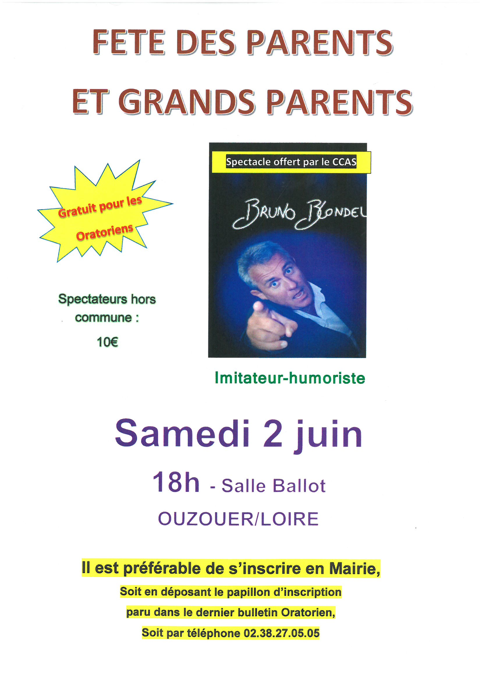 FETES DES PARENTS ET DES GRANDS PARENTS